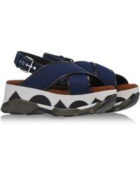 Marni Sandals blue - Lyst