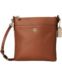 Coach Embossed Txt Leather North/South Swingpack - Lyst