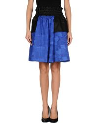 Damir Doma Knee Length Skirt blue - Lyst