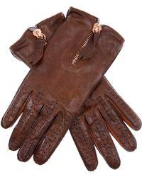 Christophe Fenwick - Zip Fastening Gloves - Lyst