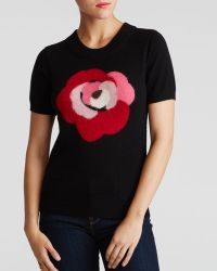 Kate Spade Deco Rose Wool Sweater - Lyst