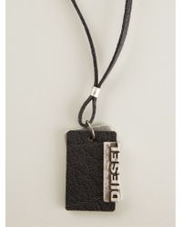 Diesel Alory Tag Necklace - Lyst