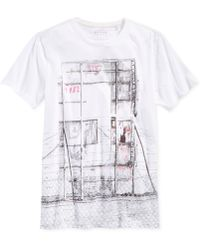 Guess Fence Graphic T-Shirt - Lyst