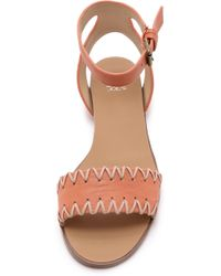 Joe's Jeans - Reba Flat Sandals - Papaya/Sand - Lyst