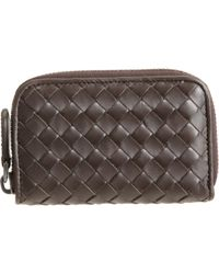 Bottega Veneta Intrecciato Zip Around Card Case - Lyst