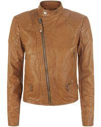 Polo Ralph Lauren Hopper Leather Biker Jacket - Lyst