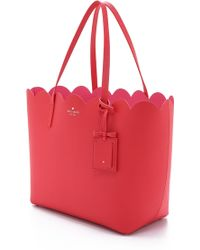 Kate Spade Carrigan Tote - Sprout Green/Bright White red - Lyst