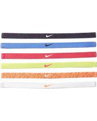 Nike Printed Headbands Assorted 6 Packs - Lyst