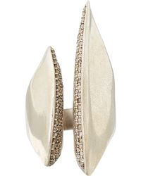 Alexis Bittar Fine - Silver Brown Diamond Sculptural Cleave Ring - Lyst