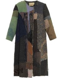 By Walid Vintage Crochet Patchwork Swing Coat - Lyst