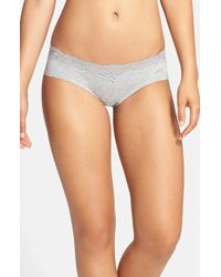 DKNY - 'downtown' Lace Trim Cotton Hipster Briefs - Lyst