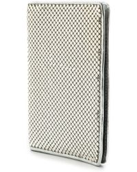 Whiting & Davis Passport Cover Silver - Lyst