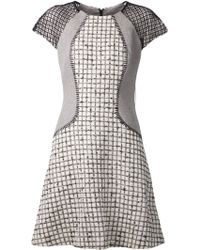 Lela Rose Blocked Boucle Dress - Lyst