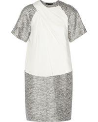 Alexander Wang Color-Block Wool And Silk-Blend Mini Dress - Lyst