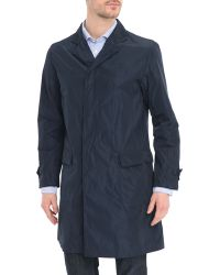 Hartford Carlton Navy Unlined Nylon Raincoat - Lyst