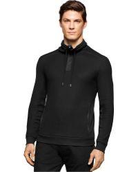 Calvin Klein   Jacquard Pullover Long Sleeve Knit Shirt   Lyst