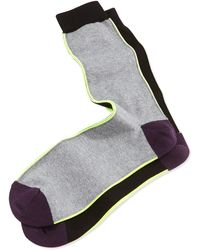 Paul Smith Black Vertical-neon-stripe Socks - Lyst