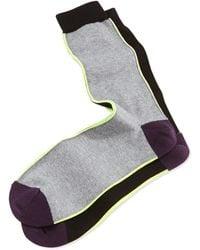 Paul Smith Vertical-neon-stripe Socks - Lyst
