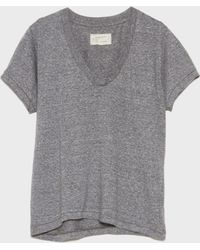 Current/Elliott | The V-neck T-shirt | Lyst