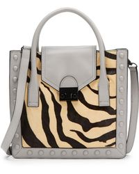 Loeffler Randall Print Calf Hair & Leather Tote - Lyst