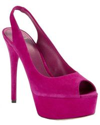 B Brian Atwood Beatris Suede Slingback Pumps - Lyst