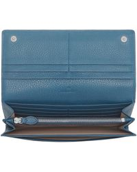 Mulberry Tree Continental Wallet blue - Lyst