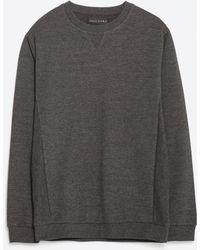 Zara | Basic Closed Sweatshirt | Lyst