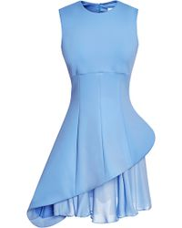 Cushnie Et Ochs Blue Neoprene Dress - Lyst