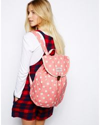 Cath Kidston - Cotton Rucksack with Clasp Fastening - Lyst