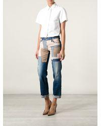 DSquared2 Patchwork Jeans - Lyst