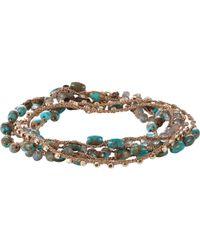 Feathered Soul Turquoise & Labradorite Beaded Necklace/Wrap Bracelet - Lyst
