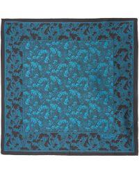 Liberty - Blue Cranston Print Silk Pocket Square - Lyst