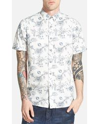 Howe 'Intoxicated' Slim Fit Short Sleeve Print Woven Shirt - Lyst