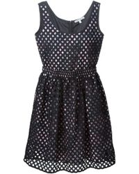Carven | Eyelet Dress Black | Lyst