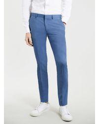 Topman Blue Ultra Skinny Suit Trousers - Lyst