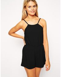 Asos Playsuit in Crepe - Lyst