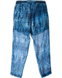 Amen Cropped Printed Trousers - Lyst