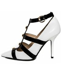 Moschino Strappy Studded Pump - Lyst