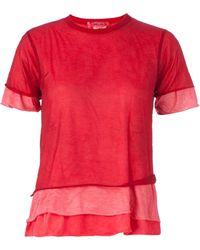 Comme Des Garçons Layered Frill T-Shirt - Lyst