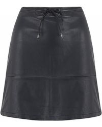 French connection Luxe Leather Skirt - Lyst