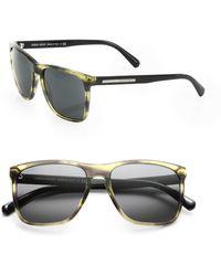 Giorgio Armani 55mm Acetate Wayfarer Sunglasses - Lyst