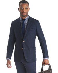 Tommy Hilfiger Tailored Fit Blue Donegal Jacket - Lyst
