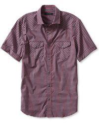 Banana Republic Slim-Fit Gingham Short-Sleeve Western Shirt - Lyst