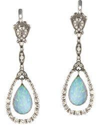 Queensbee - Snow Drop Earrings - Lyst