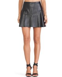 Twelfth Street by Cynthia Vincent Faux Leather Pleated Mini Skirt - Lyst