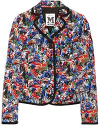 M Missoni Printed Silk Jacket - Lyst