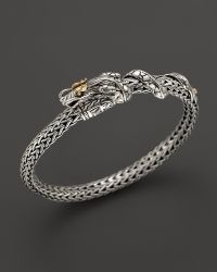 John Hardy Naga Sterling Silver and 18k Yellow Gold Dragon Bracelet - Lyst