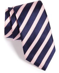 Thomas Pink Woven Silk Tie - Blue