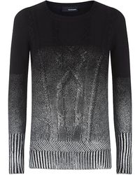 The Kooples Degradã Foil Sweater - Lyst