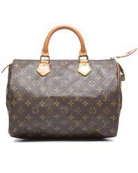 Louis Vuitton Preowned Monogram Canvas Speedy 30 Bag - Lyst
